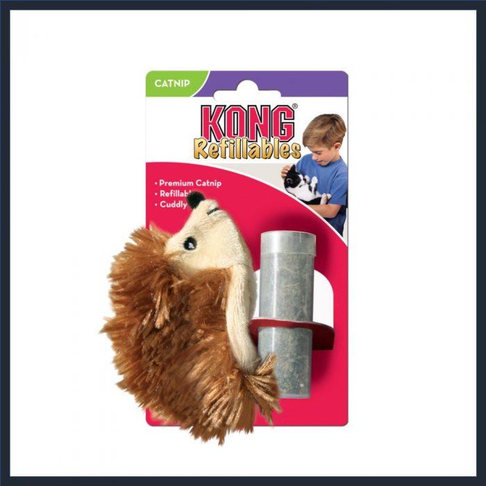 KONG Refillable Catnip Hedgehog Cat Toy