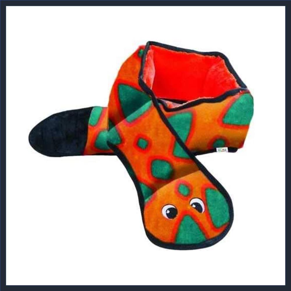 OUTWARD HOUND Stuffingless Plush Snake Toy