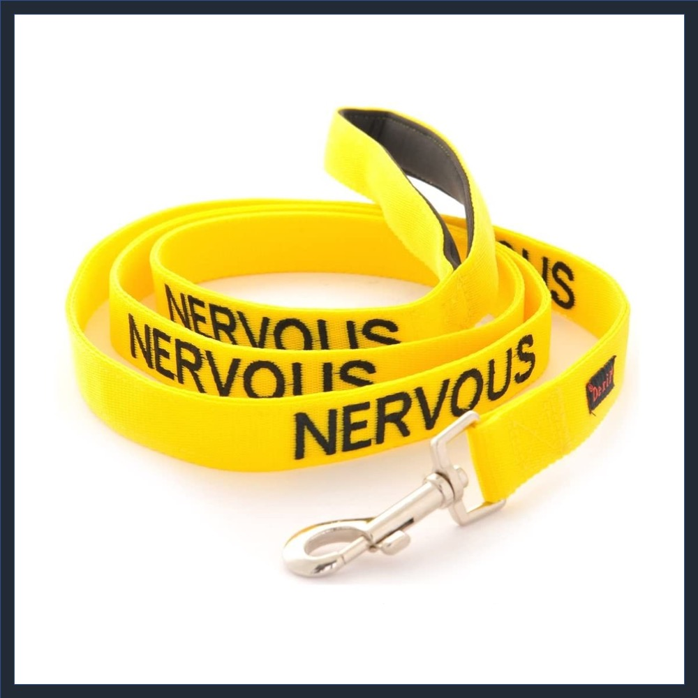 Nervous Yellow Neoprene Padded Dog Lead